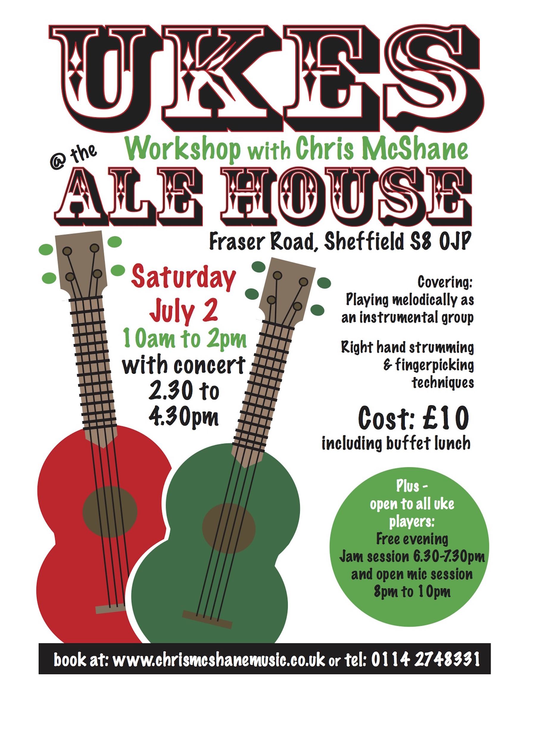 Ukulele Day at the Ale House Sheffield