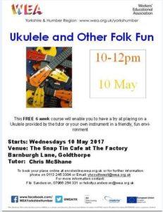 Free Ukulele Course starting on 10th May.