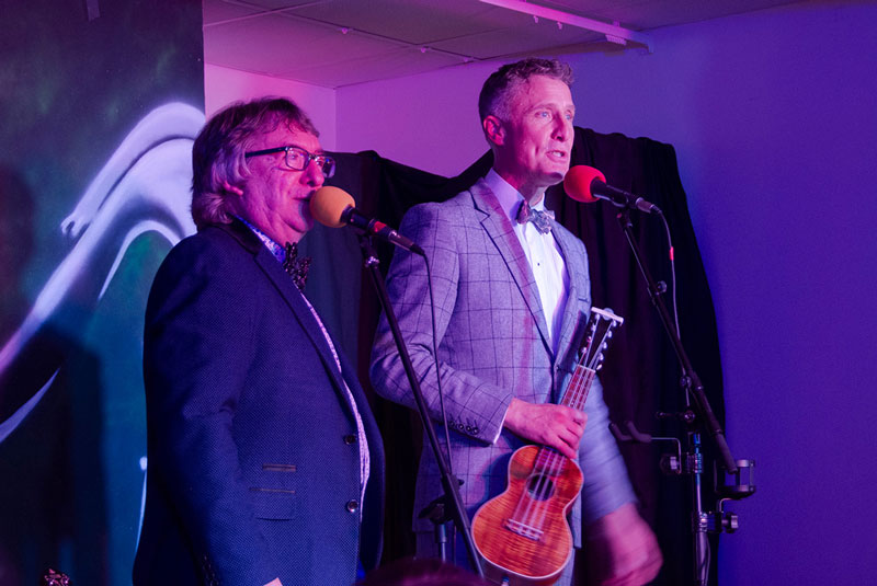 Chris McShane & Ralph Shaw at their first Gig, Thurgoland Village Hall, Nov 2018