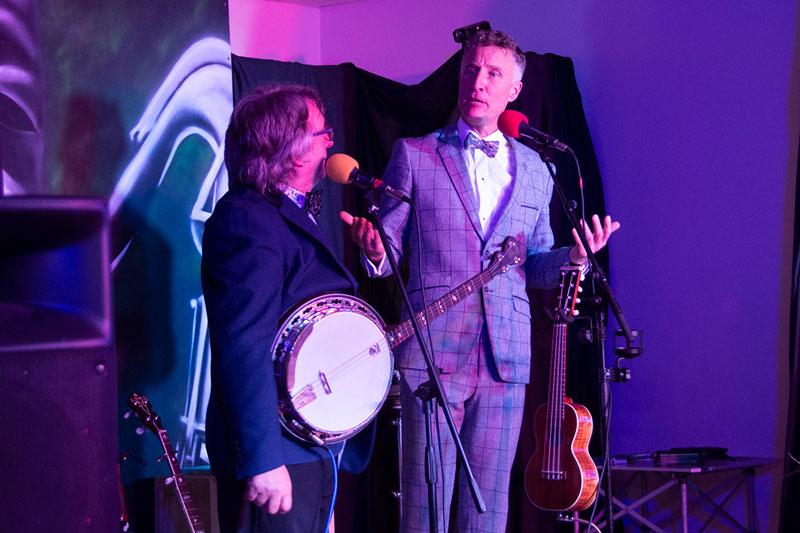 Chris McShane & Ralph Shaw at their first Gig, Thurgoland Village Hall, Nov 2018