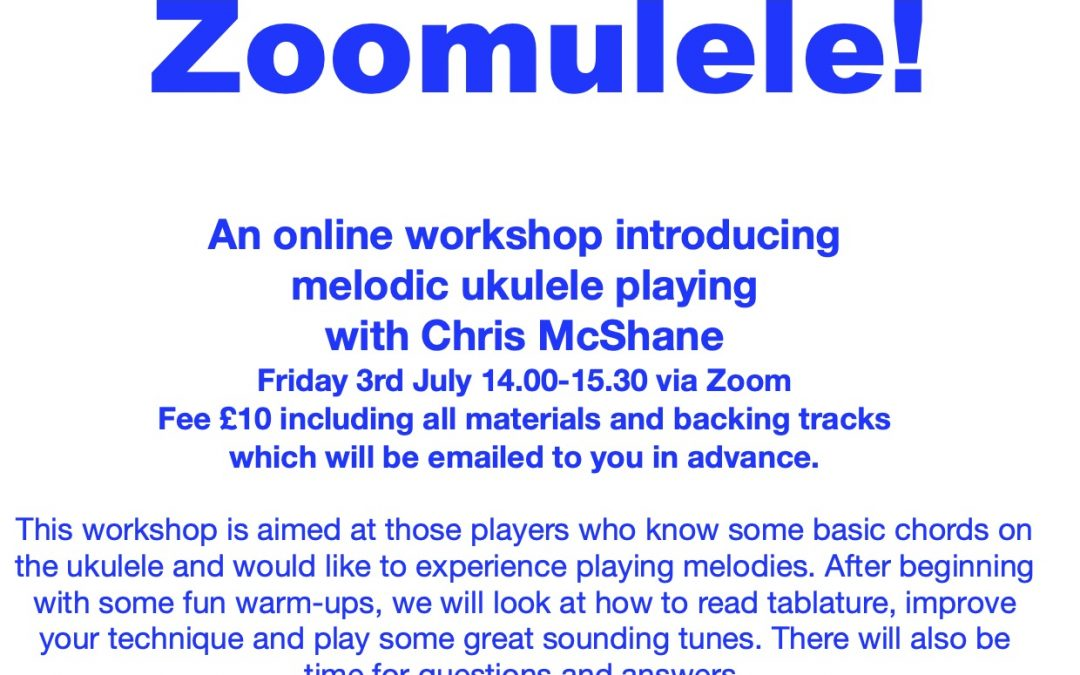 Zoomulele. Online Ukulele Workshop.