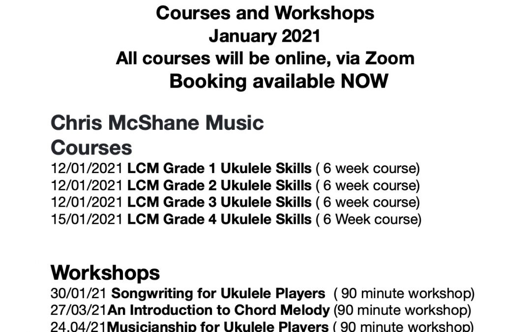 New Ukulele Courses for 2021